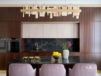 Дизайнерский ремонт квартиры в ЖК Сердце Столицы фото №8 | Кухня-гостиная
