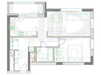 Современный интерьер квартиры в ЖК Достояние планировка квартиры