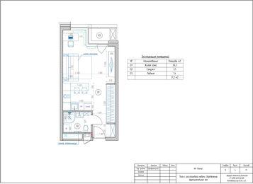 Дизайн и ремонт квартиры-студии в ЖК Лайнер | Планировка