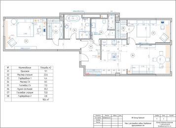 Визуализация интерьера квартиры в ЖК Balchug Viewpoint | Современный стиль | Планировка