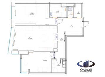 Планировка квартиры в ЖК Долина Сетунь