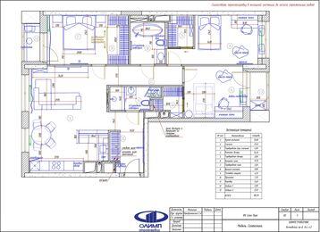 Дизайн 3-комнатной квартиры в ЖК Сити Парк | Дизайн-проект квартиры City Park | Планировка
