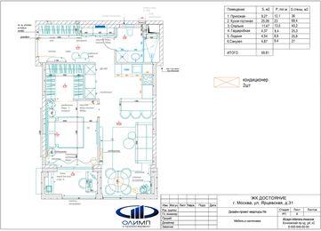 Дизайн интерьера однокомнатной квартиры в ЖК Достояние | Планировка