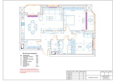 Интерьер трехкомнатной квартиры в современном стиле в ЖК Мосфильмовский | Планировка квартиры