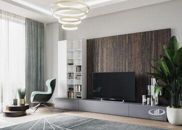 3D-визуализация дизайна интерьера квартиры в современном стиле | ЖК RedSide фото №1