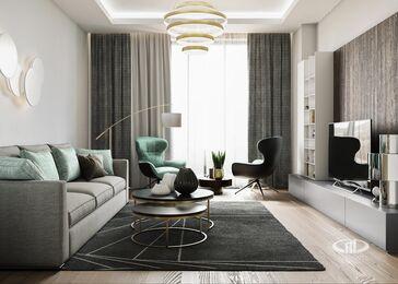 3D-визуализация дизайна интерьера квартиры в современном стиле | ЖК RedSide фото №2