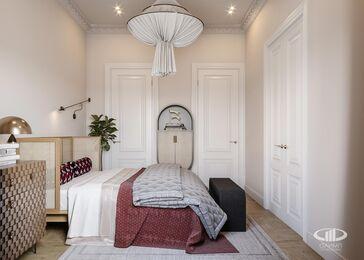 Дизайн двухкомнатной квартиры в ЖК Сердце Столицы в смешанном стиле | Фото №10