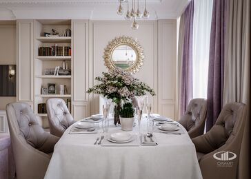 Интерьер квартиры в классическом стиле | ЖК Достояние | 3d-визуализация №3