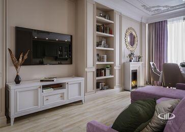 Интерьер квартиры в классическом стиле | ЖК Достояние | 3d-визуализация №7