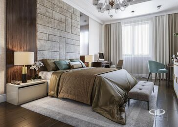 Дизайн интерьера четырехкомнатной квартиры в ЖК Розмарин стиль Ар-Деко | Фото №10