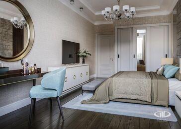 Дизайн интерьера четырехкомнатной квартиры в ЖК Розмарин стиль Ар-Деко | Фото №12