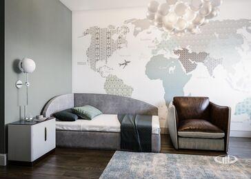 Дизайн интерьера четырехкомнатной квартиры в ЖК Розмарин стиль Ар-Деко | Фото №14