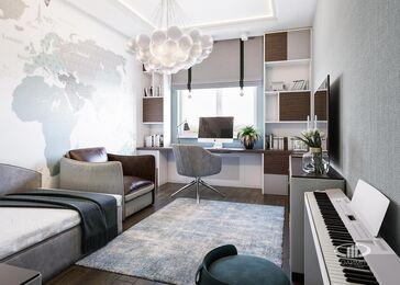 Дизайн интерьера четырехкомнатной квартиры в ЖК Розмарин стиль Ар-Деко | Фото №15