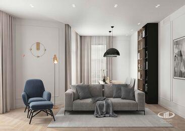 Дизайн интерьера четырехкомнатной квартиры в ЖК Balchug Viewpoint | 3d-визуализация №9