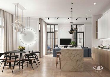 Дизайн интерьера четырехкомнатной квартиры в ЖК Balchug Viewpoint | 3d-визуализация №2