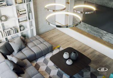 Интерьер трехкомнатной квартиры в современном стиле в ЖК Мосфильмовский | 3d-визуализация №3