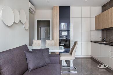 Ремонт однокомнатной квартиры в ЖК Наследие | Кухня-гостиная | Фото №4