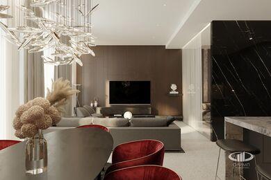 ЗD-визуализация дизайна интерьера квартиры в ЖК Садовые Кварталы в стиле современный минимализм | Фото №2