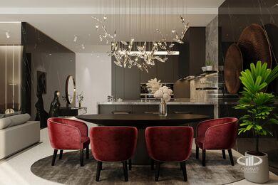 ЗD-визуализация дизайна интерьера квартиры в ЖК Садовые Кварталы в стиле современный минимализм | Фото №3