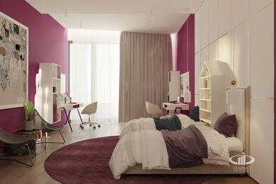 ЗD-визуализация дизайна интерьера квартиры в ЖК Садовые Кварталы в стиле современный минимализм | Фото №30