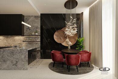 ЗD-визуализация дизайна интерьера квартиры в ЖК Садовые Кварталы в стиле современный минимализм | Фото №6