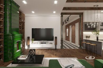 "Визуализация интерьера квартиры в стиле ""Эклектика"" | ЖК Лица | Фото №1"