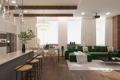 "Визуализация интерьера квартиры в стиле ""Эклектика"" | ЖК Лица | Фото №7"