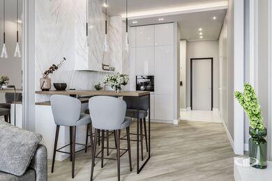 Дизайн интерьера квартиры в ЖК Балчуг Вьюпоинт в стиле современная классика | Фото №1