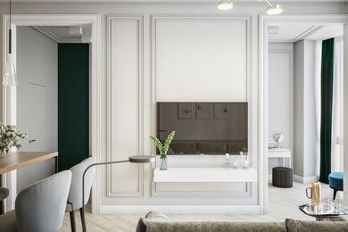 Дизайн интерьера квартиры в ЖК Балчуг Вьюпоинт в стиле современная классика | Фото №2
