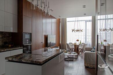 Дизайнерский ремонт апартаментов в современном стиле | Фото №4