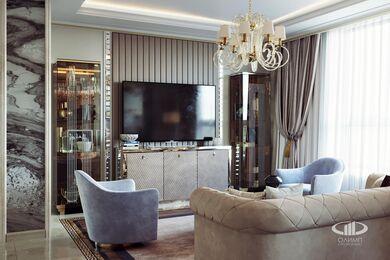 3D-визуализация дизайна интерьера квартиры выполненная в стиле Ар-Деко | ЖК Дыхание | Фото №4