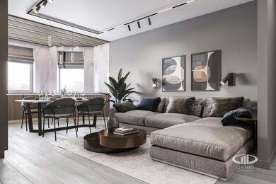 Дизайн интерьера большой квартиры в современном стиле | 3d-визуализация №1