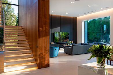 Внутренняя отделка загородного дома в стиле Минимализм | Фото №17