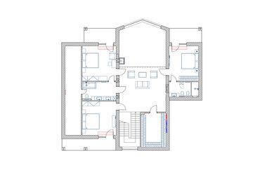Дизайн интерьера загородного дома в КП Новолеоново   Планировка 2 этаж