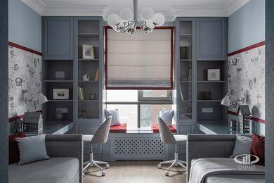 Дизайнерский ремонт 4-комнатной квартиры 140 кв.м. фото №14 | Детская комната для двух мальчиков