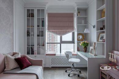 Дизайнерский ремонт 4-комнатной квартиры 140 кв.м. фото №19 | Детская комната для девочки