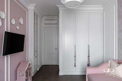 Дизайнерский ремонт 4-комнатной квартиры 140 кв.м. фото №22 | Детская комната для девочки
