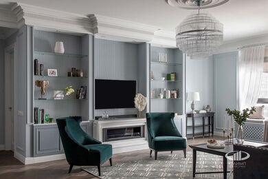 Дизайнерский ремонт 4-комнатной квартиры 140 кв.м. фото №4 | Кухня-гостиная