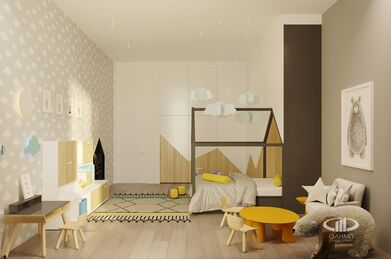 ЗD-визуализация дизайна интерьера квартиры в ЖК Садовые Кварталы в стиле современный минимализм | Фото №28
