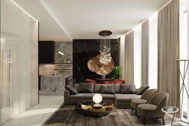 ЗD-визуализация дизайна интерьера квартиры в ЖК Садовые Кварталы в стиле современный минимализм | Фото №7