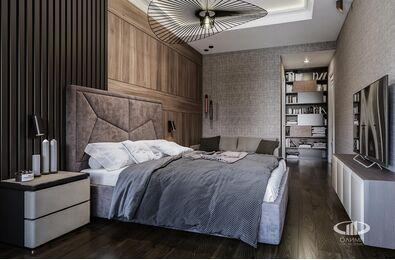 Дизайн интерьера четырехкомнатной квартиры в ЖК Розмарин стиль Ар-Деко | Фото №7