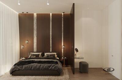 ЗD-визуализация дизайна интерьера квартиры в ЖК Садовые Кварталы в стиле современный минимализм | Фото №15