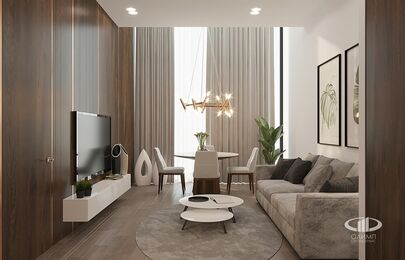 Визуализация интерьера квартиры в ЖК Balchug Viewpoint | Современный стиль | Фото №4