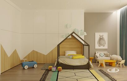 ЗD-визуализация дизайна интерьера квартиры в ЖК Садовые Кварталы в стиле современный минимализм | Фото №27