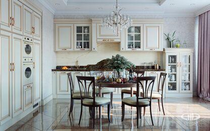3D-визуализация квартиры в классическом стиле | №4