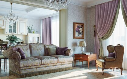 3D-визуализация квартиры в классическом стиле | №6