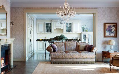 3D-визуализация квартиры в классическом стиле | №8