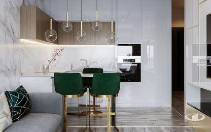Дизайн интерьера квартиры в ЖК Дом Серебряный Бор | Фото №1
