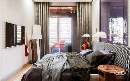 Дизайн интерьера однокомнатной квартиры в ЖК Достояние | Фото №10