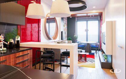 Дизайн интерьера однокомнатной квартиры в ЖК Достояние | Фото №6